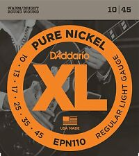D'Addario EPN110 XL Pure Nickel Electric Guitar Strings 10-45