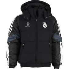 NEW GENUINE adidas Mens RMCF Real Madrid Padded Winter Jacket Black 40% OFF