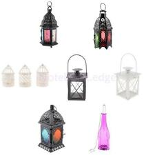 Metal Hanging Lantern Candle Holder Garden Night Outdoor Tea Light Stand Decor