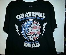Mens Grateful Dead Black or Charcoal Gray T-Shirt Size Small Large
