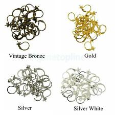 20PCS Wholesale Leverback Earring Findings Gold Silver Plate Earring Clip DIY