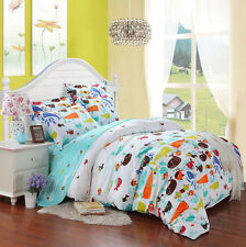 All Size Cotton Bed Duvet Cover Bedsheet Pillowcases 4PCs Set Single Double King