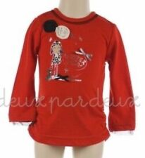 NWT  Deux par Deux Neige Jersey chinese red Top girls Top 3, 4, 5, 6 style N72