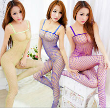 Charming Lady Open Crotch Body Stocking Fishnet Bodysuit Nightwear Lingerie HC