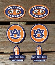 Iron On Sew On Transfer Applique Auburn Tigers Alabama Cotton Fabric Patch Set