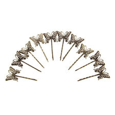 10x Vintage DIY Hair Bobby Pins Retro Grips Slides Hair Accessories Butterfly