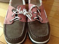 Women's Timberland Boat shoes Pink Plaid Brown Suede leather Size 9M