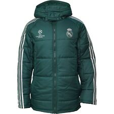 NEW adidas Mens RMCF Real Madrid Edu Padded Hooded Jacket Green ALL SIZES