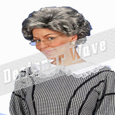 OAP Granny Aunt Agatha Wig Grey Silver Old Woman Fancy Dress Premed Curly
