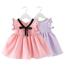 Kids Girls Summer Dress Princess Party Dress Baby Skirts Clothes Age 0-7Y B9