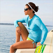 Sbart Women Long Sleeve Rash Guard Wetsuit Swimsuit Top Sun Protection 7 Colors