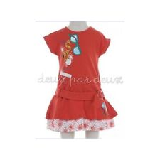 NWT Deux par Deux CHARMANTE Red Jersey Balloon girl Dress 5, 6y style H90