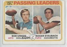 1978 Topps 331 NFL Passing Leaders (Bob Griese Roger Staubach) READ Bob Card 0j2