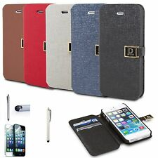 Magnetic Flip Leather Hard Skin Pouch Wallet Case Cover For Apple iPhone 5S 5 SE