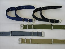Strong Canvas Military Army NATO MOD Style Watch Strap Band for G10 CWC Pulsar