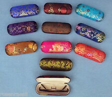Glasses case Glasses box Hard case with Silk fabric various Colour variants