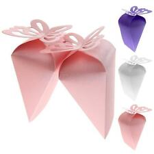 50PCS Triangle Laser Cut Butterfly Cake Candy Gift Box Wedding Party Favor Boxes