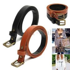 Lady PU Leather Belt Casual Pin Buckle Waist Strap Classic Simple Belts CAD