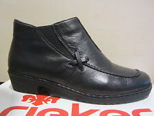 Rieker Boots, Boots, Winter boots, Ankle boots,black, Leather, padded, NEW