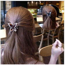 1x Hairclip Accessories Butterfly Hairpin Rhinestone Crystal Clamp Beautiful ZMR