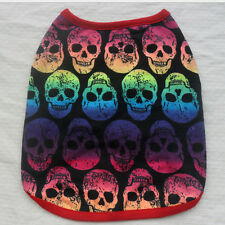 Skull Vest Puppy Small Cat Summer T Shirt Cute Pet Dog Clothes Apparel Costumes#