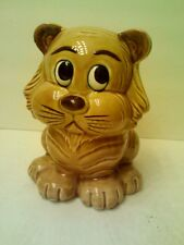 "RARE VINTAGE 6.5"" CAT CERAMIC PIGGY BANK - MADE IN JAPAN - VERY NICE!"