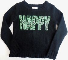 NWT Justice girls Black green long sleeve girls sweater size 6 7 or 12 NEW