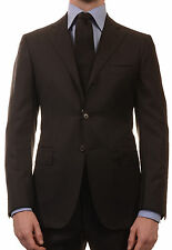 Sartoria PARTENOPEA Hand Made Solid Black Super 140's Wool Suit