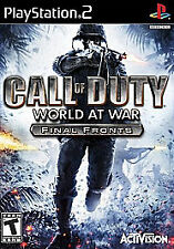 Call of Duty: World at War - Final Fronts (Sony PlayStation 2, 2008,  PS2 Game)