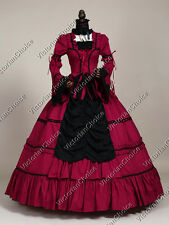 Victorian Gothic Period Prom Dress Ball Gown Theater Reenactment Clothing 125