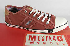 Mustang Men's Lace-up Shoes Sneakers trainers Red Textile Rubber sole, NEW
