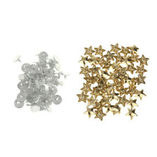 50 Sets Flat Star Rivets Studs Punk Spikes Shoe Bags Clothing Leathercraft DIY