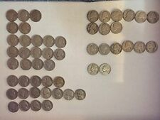 1947, 1948, and 1949 P, D, and S Jefferson Nickels - Lot of 52 Coins