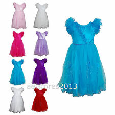 Girls Flower Wedding Dress Bridesmaid Party Communion Age 0 months - 13 years