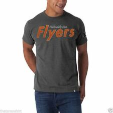 New Mens 47 Brand Philadelphia Flyers Blacktop Gray Vintage Inspired T-Shirt