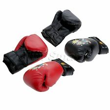 1 Pair Children Boxing Gloves with Wrist Wrap Bag Punching Training Gloves New