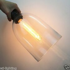 Vintage Retro LOFT Clear Glass Shade Ceiling Chandelier LED Pendant Lamp Light