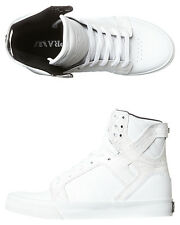 New Supra Women's Skytop Hi Womens Shoe Rubber Leather Womens Shoes White