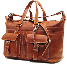 Floto Imports Milano Carry On Duffel Travel Bag, Italian Leather
