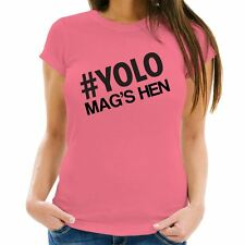 Personalised YOLO Hen Party T-Shirt, Quirky Novelty Hen Accessories, Night Out