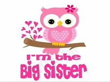 IRON ON TRANSFER / STICKER - I'M THE  BIG SISTER - MATERNITY BABY T-SHIRT