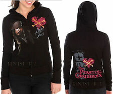 Disney Pirates of the Caribbean Stranger Tides Hoodie Hooded Sweatshirt Jacket
