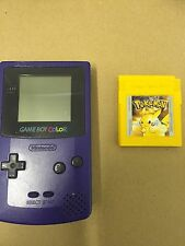 Nintendo Gameboy colour Console with Pokemon yellow Game