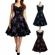 Sexy Women Housewife Sleeveless Dress Evening Party Cocktail Swing Dress