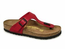 Birkenstock GIZEH Ladies Womens Toe Post Birko-Flor Summer Sandals Cherry