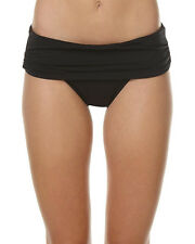 New Jets Jetset Wide Band Ruched Separate Pant Womens Swimming Costume Black