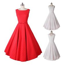 Women Vintage Swing Pinup Dress Summer Evening Party Sexy Ladies Dress