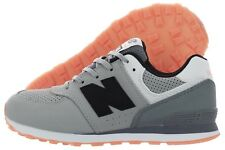 New Balance 574 Kids State Fair KL574BTP Grey Black Nubuck Shoes Medium Youth