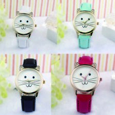 Watches Cats Face Lovely Casual Quartz Neutral Watch Diamond Fashion Watches