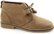 Hush Puppies CYRA CATELYN Ladies Womens Nubuck Leather Desert Boots Cognac Brown